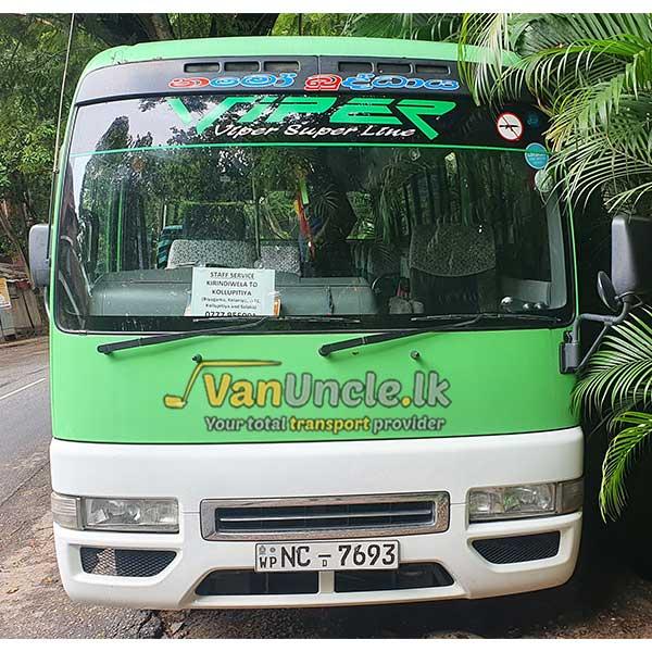 Staff Transport Service from Kirindiwela to Jawaththa