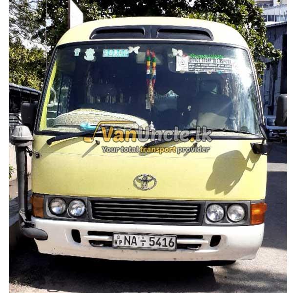 Staff Transport from Ingiriya to Kolpity