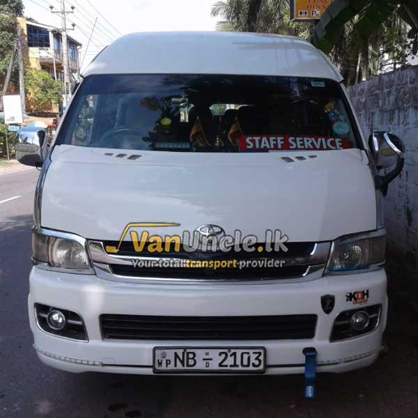 Office Transport from Mirigama to Narahenpita